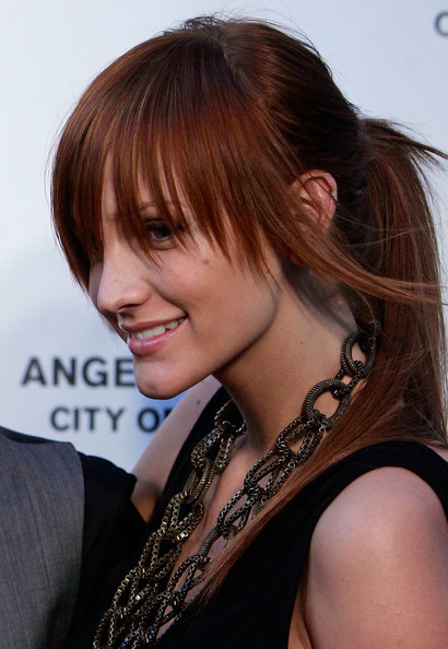 With finer hair, you can make long and chunky fringe hairstyles.