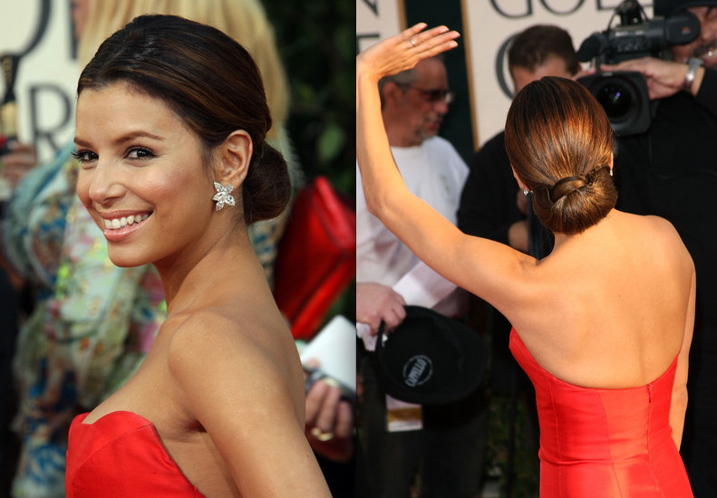 A recurring trend on the red carpet were tasteful low buns and chignons,