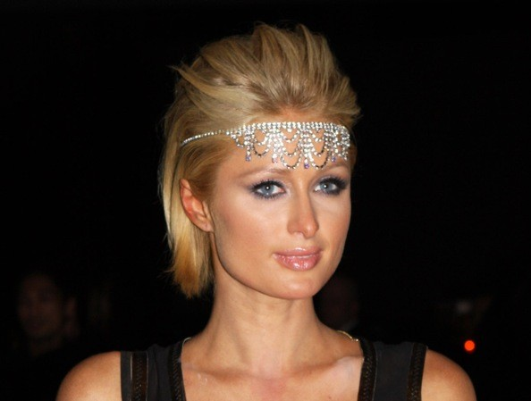 Swell Paris Hilton39S Flapper Bling Short Prom Hairstyle Idea Short Short Hairstyles Gunalazisus