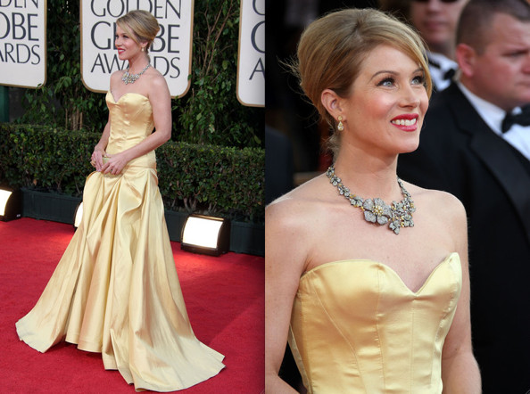 Celebrity Prom Inspiration 2009  Christina Applegate in Yellow Roberto  Cavalli - Celebrity Prom Dresses - Zimbio eca966431