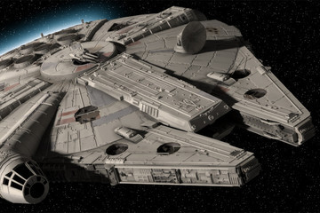 JJ Abrams Reveals the Millennium Falcon with a Batmobile Easter Egg