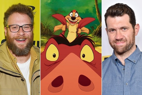 Seth Rogen and Billy Eichner to Team Up as Timon & Pumbaa in the Live-Action 'Lion King'