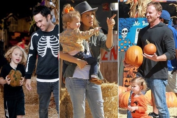 Celebrities and Their Kids at the Pumpkin Patch