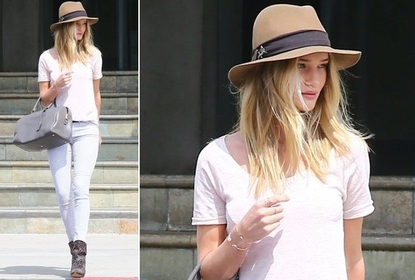Rosie Huntington-Whiteley's Cool Pastels
