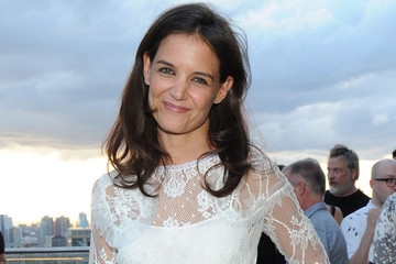 Katie Holmes Parties on a Rooftop