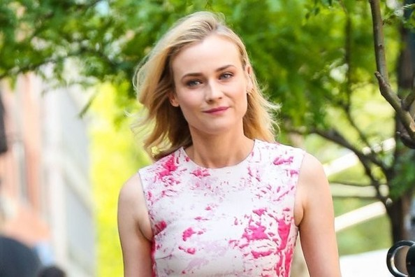 Diane Kruger's Silk Spring Dress
