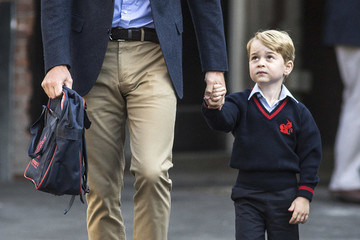 Prince William Beams as He Takes Prince George to His Very First Day of School