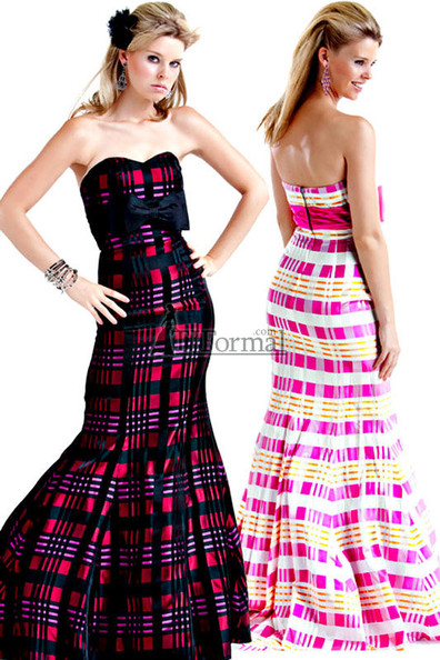 Pink Plaid Prom Gowns - 2010 Prom Dresses - Zimbio