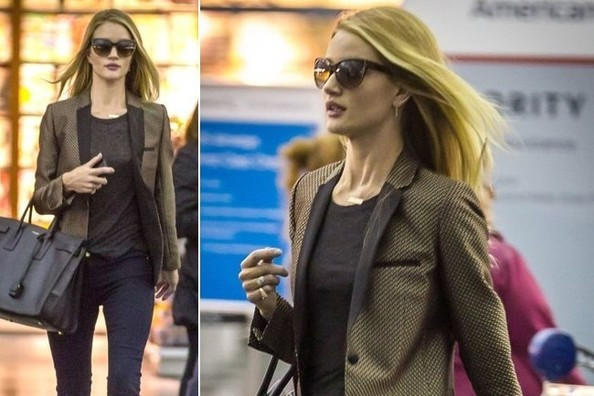 Rosie Huntington-Whiteley's Lo-Pro Travel Style