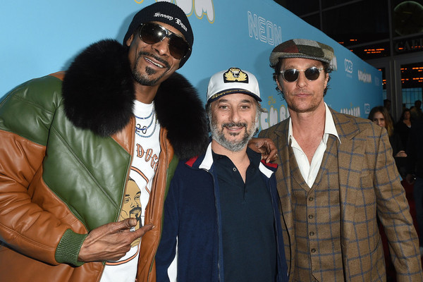 (L-R) Snoop Dogg, Harmony Korine, and Matthew McConaughey at the premiere of The Beach Bum on March 28, 2019 in Hollywood, California. (Getty)
