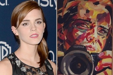 Emma Watson's Not a Terrible Painter It Turns Out