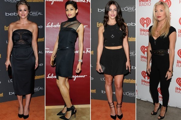 Apparently Black is the New Black: See How Your Favorite Celebs Rocked it Over the Weekend