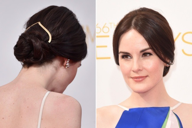 Hair Envy: Michelle Dockery's Understated Hair Jewelry