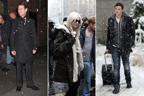 Celebrities in the Snow