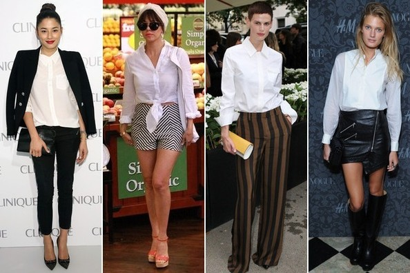 10 Totally Different Ways to Wear a Plain White Button Down Shirt