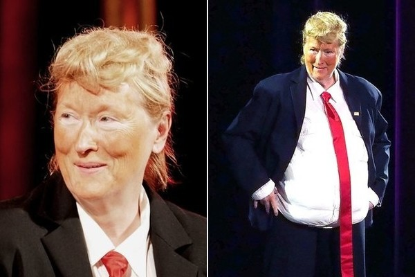 Image result for meryl streep as donald trump