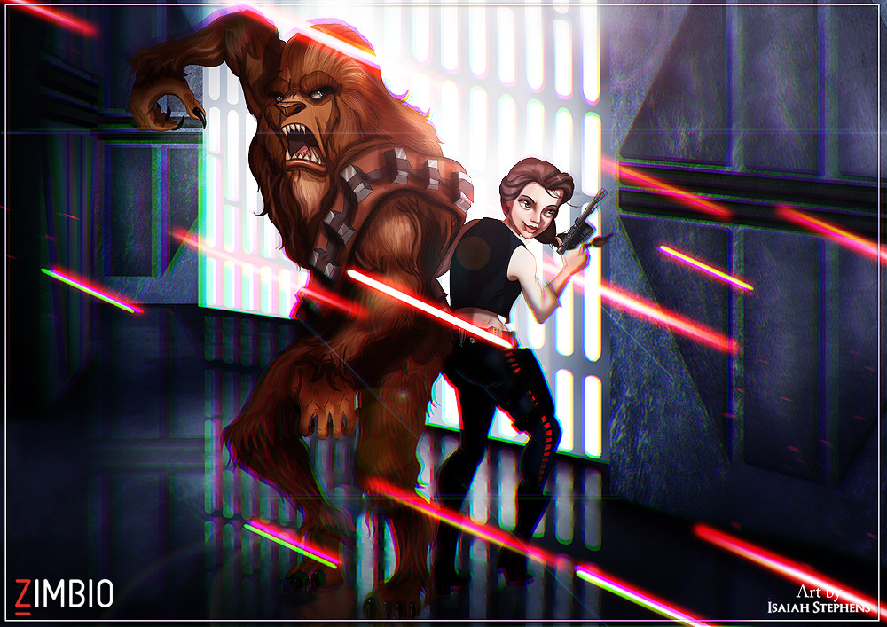Disney Animation Meets 'Star Wars' in These Incredible Illustrations