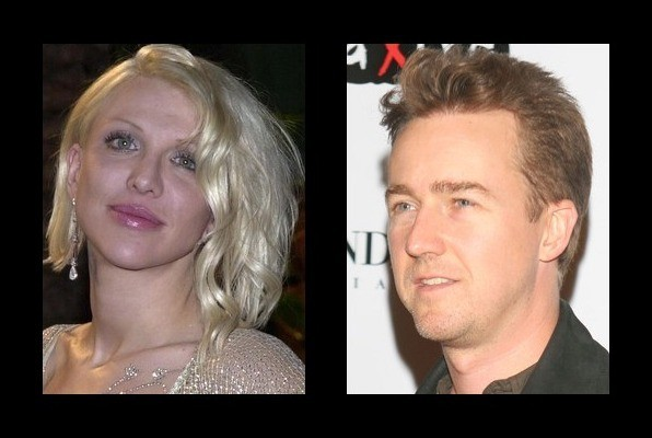 when your 2 best friends start dating: courtney love and edward norton dating