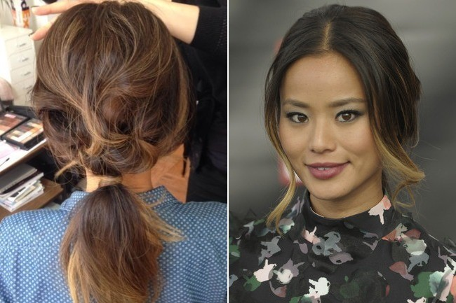 Look to Try Right Now: Jamie Chung's Brigitte Bardot-Inspired Ponytail