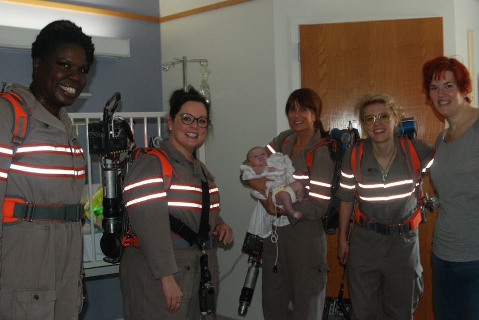 The Ghostbusters Cast Visited A Boston Children S
