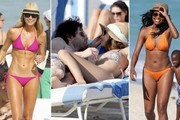 Celebs Celebrate Winter Holidays at the Beach