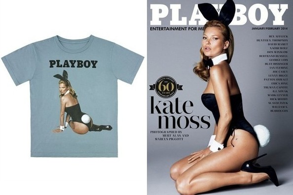 So a Kate Moss Playboy Bunny T-Shirt Exists, Already