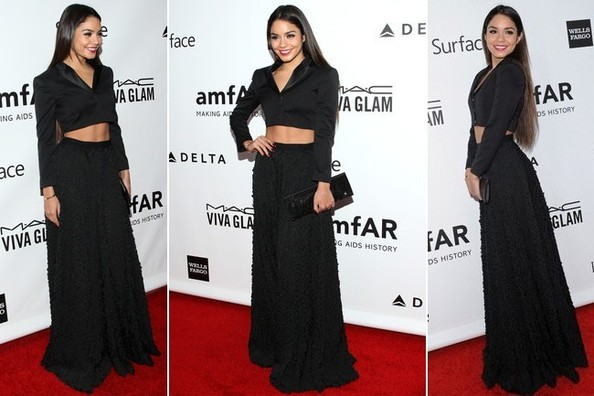 Vanessa Hudgens Shows Us an Elegant Way to Wear a Crop Top on the Red Carpet
