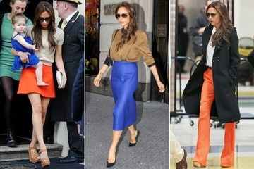 How to Wear Brights Like Victoria Beckham
