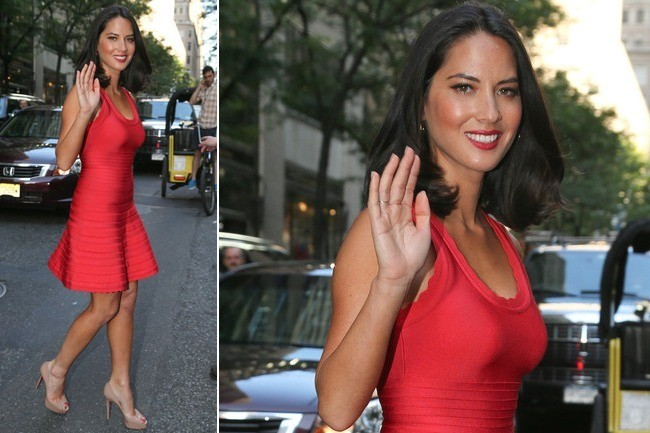 Olivia Munn's Little Red Bandage Dress