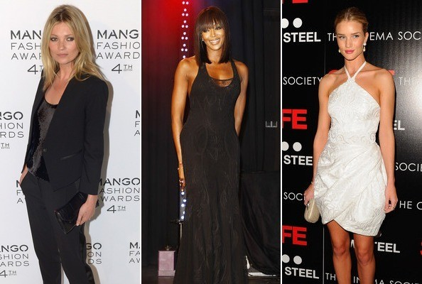 Kate Moss, Naomi Campbell, Rosie Huntington-Whiteley