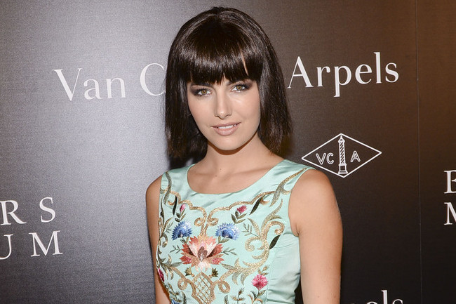 Camilla Belle Is a Gem in Embroidered Blue