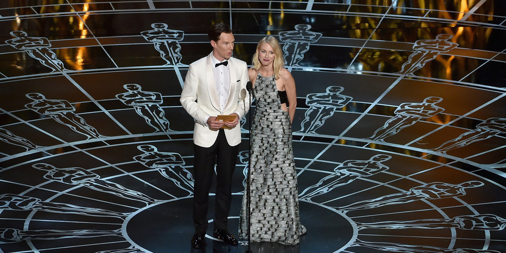 Naomi Watts presents onstage during the 87th Annual Academy Awards at Dolby Theatre on February 22, 2015 in Hollywood, California.