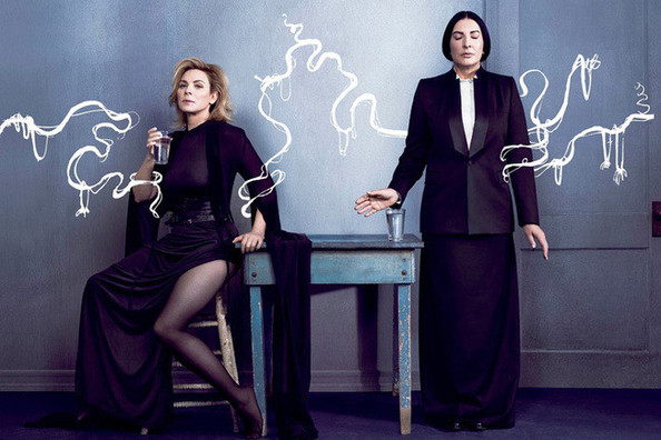 Kim Cattrall and Marina Abramovic Are BFFs in 'V,' T-Shirts As Dating Devices, and More!