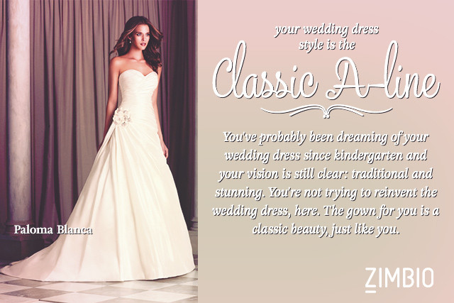 What Wedding Dress Style Best Suits You Quiz Zimbio
