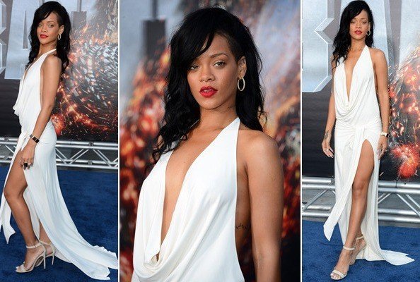 Look of the Day: Rihanna's Slinky White Dress