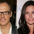 Michael Keaton and Courteney Cox