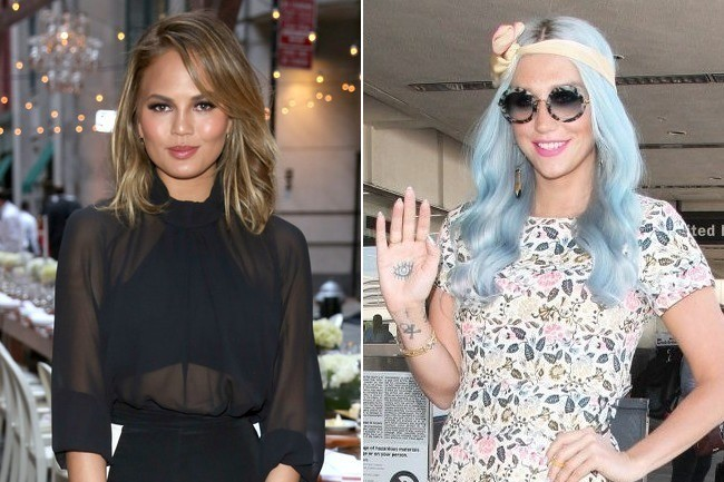 Chrissy Teigen's Gets a New Short Chop, Kesha Goes Baby Blue, Christian Louboutin Enters the Nail Wolrd