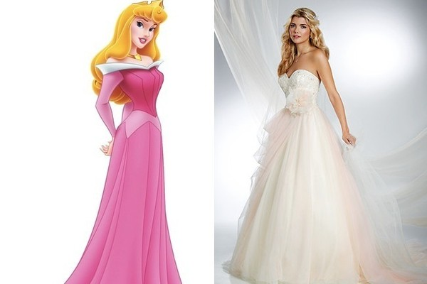 Wedding Dress Inspiration Fit for a Disney Princess - Tying The ...