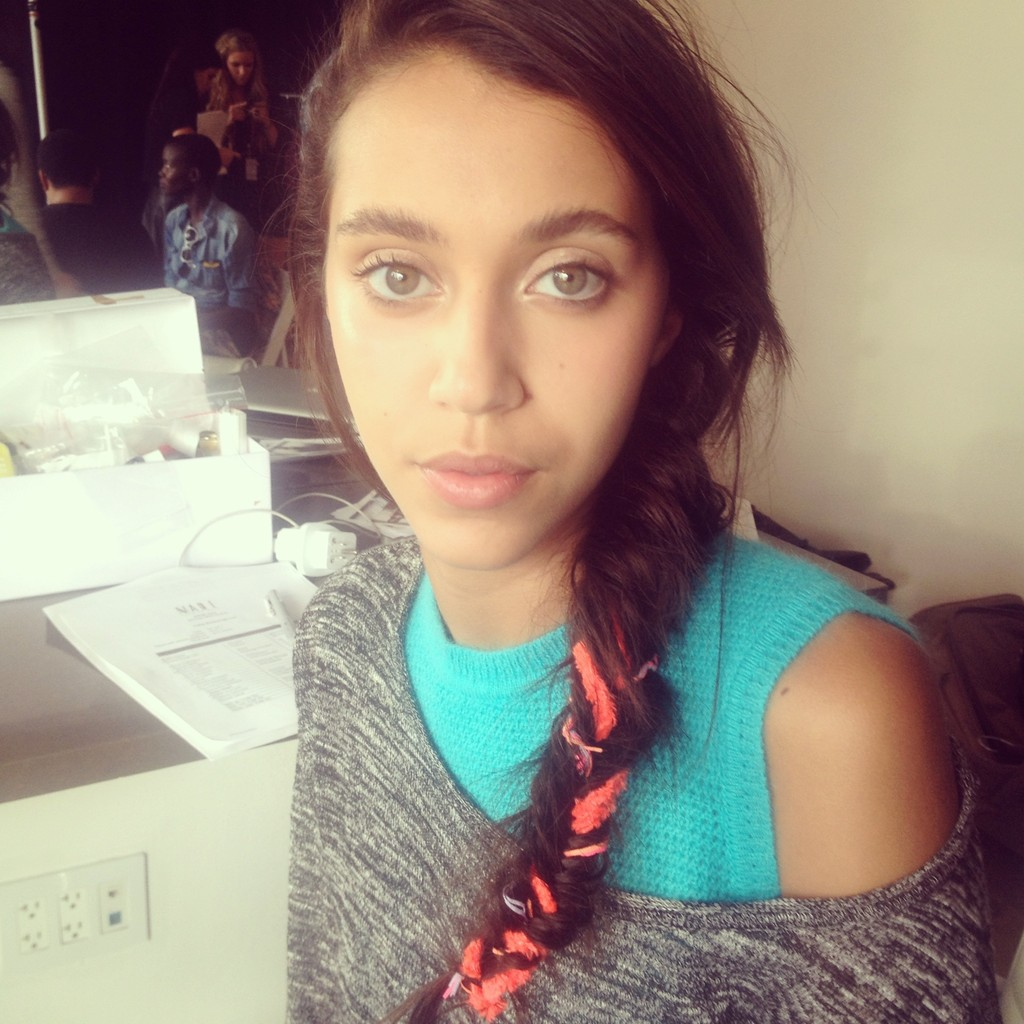 Beauty Look to Steal: Ribbon-Infused Braids and Sun-Kissed Skin from Calla