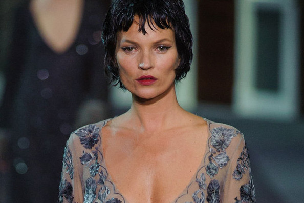 Kate Moss' Runway Comeback in Louis Vuitton Lingerie (Basically)