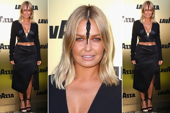 Well, THIS is an Interesting Headpiece on Lara Bingle