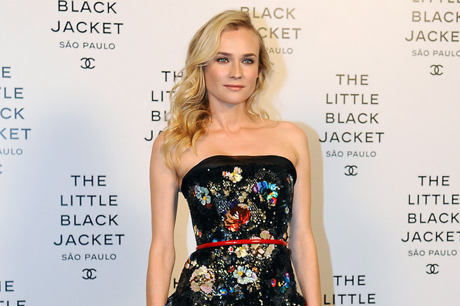 Diane Kruger Shines in Floral Sequins