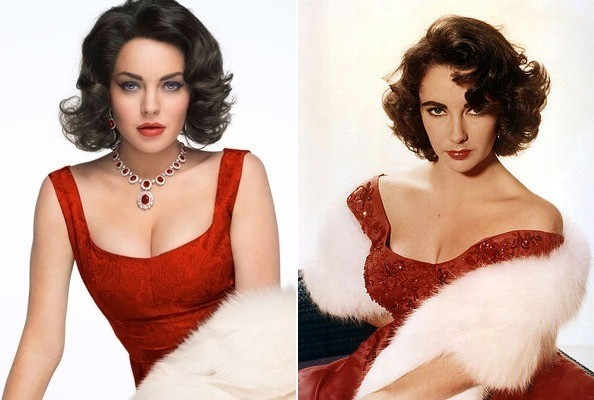 Today's Actresses as Yesterday's Hollywood Icons