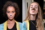 One Designer Brought Our Favorite Snapchat Filters to Life at New York Fashion Week