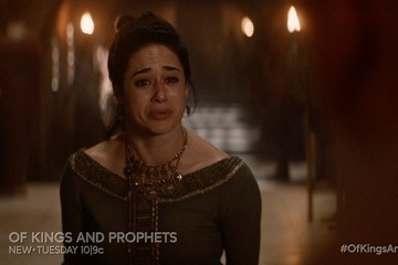 Exclusive Sneak Peek: Grief-Stricken Merav Lashes Out in an All New 'Of Kings and Prophets'