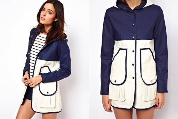 StyleBistro STUFF: ASOS's Cute, Color-Blocked Rain Trench
