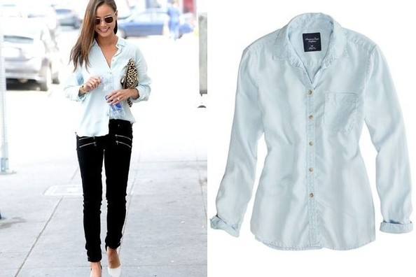 Daily Deal: Jamie Chung's Baby Blue Button-Up