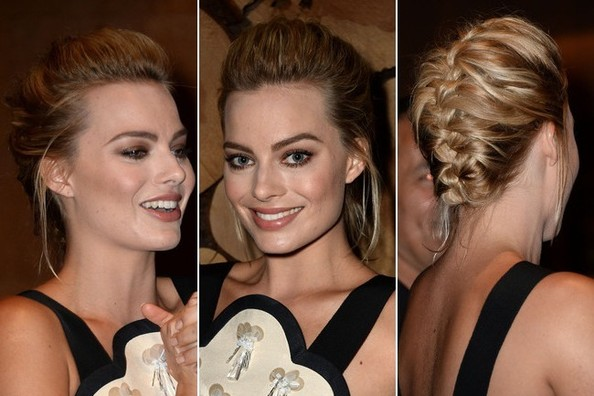 The New Age French Braid Updo: Actress Margot Robbie Shows Us How It's Done
