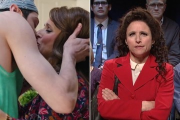 Julia Louis-Dreyfus Hooks Up With the Pool Boy, Throws Back to 'Seinfeld' on 'SNL'