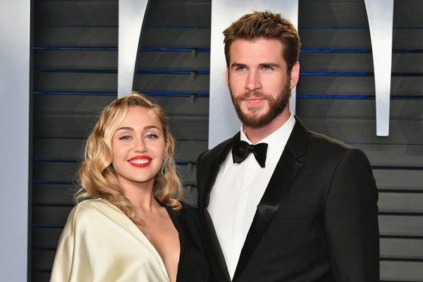 They did it: Miley Cyrus and Liam Hemwsorth Wednesday in Australia